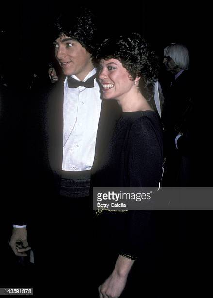 Actor Scott Baio and actress Erin Moran attend the 39th Annual Golden Globe Awards on January 30 1982 at the Beverly Hilton Hotel in Beverly Hills...