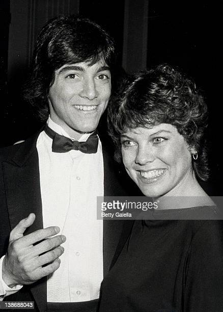 Actor Scott Baio and Actress Erin Moran attending 39th Annual Golden Globe Awards on January 30 1982 at Beverly Hilton Hotel in Beverly Hills...