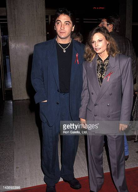 Actor Scott Baio and actress Kay Lenz attend the ''Falling from Grace' Century City Premiere' on February 19 1992 at the Cineplex Odeon Century Plaza...