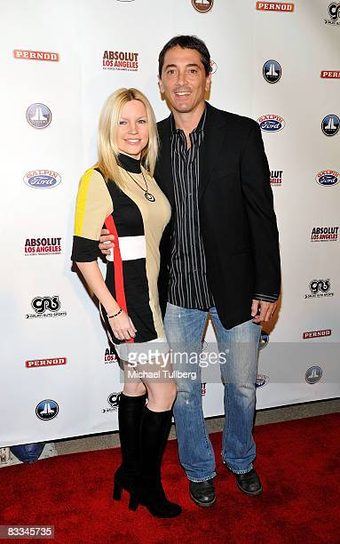 Actor Scott Baio arrives with wife Renee at the benefit grand opening of celebrity vehicle customization shop Galpin Auto Sports on October 18 2008...