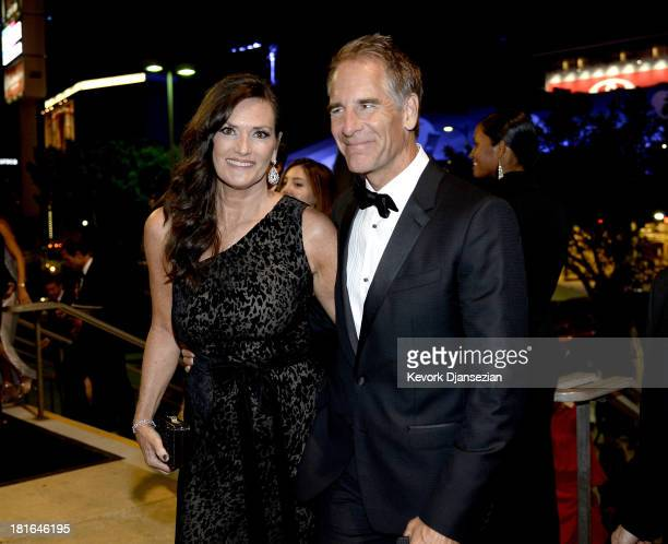 Actor Scott Bakula and Krista Neumann attend the Governors Ball during the 65th Annual Primetime Emmy Awards at Nokia Theatre LA Live on September 22...