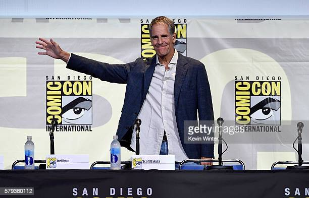 Actor Scott Bakula attends the 'Star Trek' panel during ComicCon International 2016 at San Diego Convention Center on July 23 2016 in San Diego...