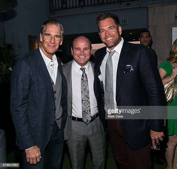 Actor Scott Bakula President CBS Television Studios David Stapf and actor Michael Weatherly attend the 'CBS Television Studios 3rd Annual Summer...