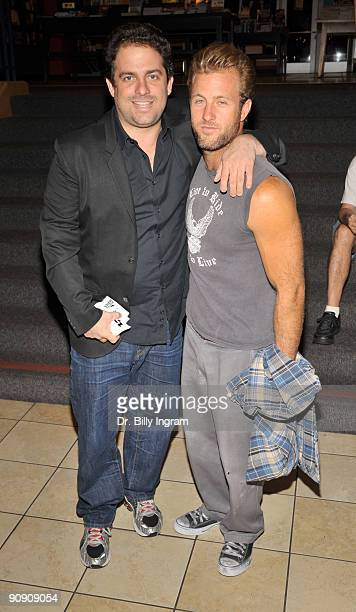Actor Scott Caan and director Brett Ratner attend Brett Ratner's Rat Press Book Signing at Borders on September 17 2009 in Hollywood California