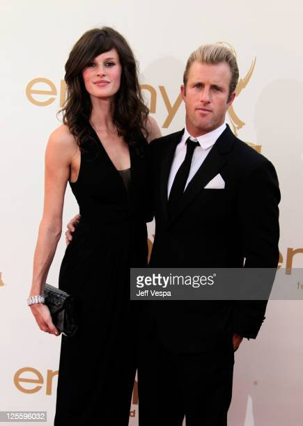 Actor Scott Caan and guest arrive to the 63rd Primetime Emmy Awards at the Nokia Theatre LA Live on September 18 2011 in Los Angeles United States