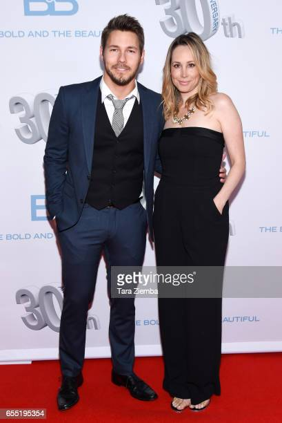 Actor Scott Clifton and guest attend CBS's 'The Bold and The Beautiful' 30th Anniversary Party at Clifton's Cafeteria on March 18 2017 in Los Angeles...