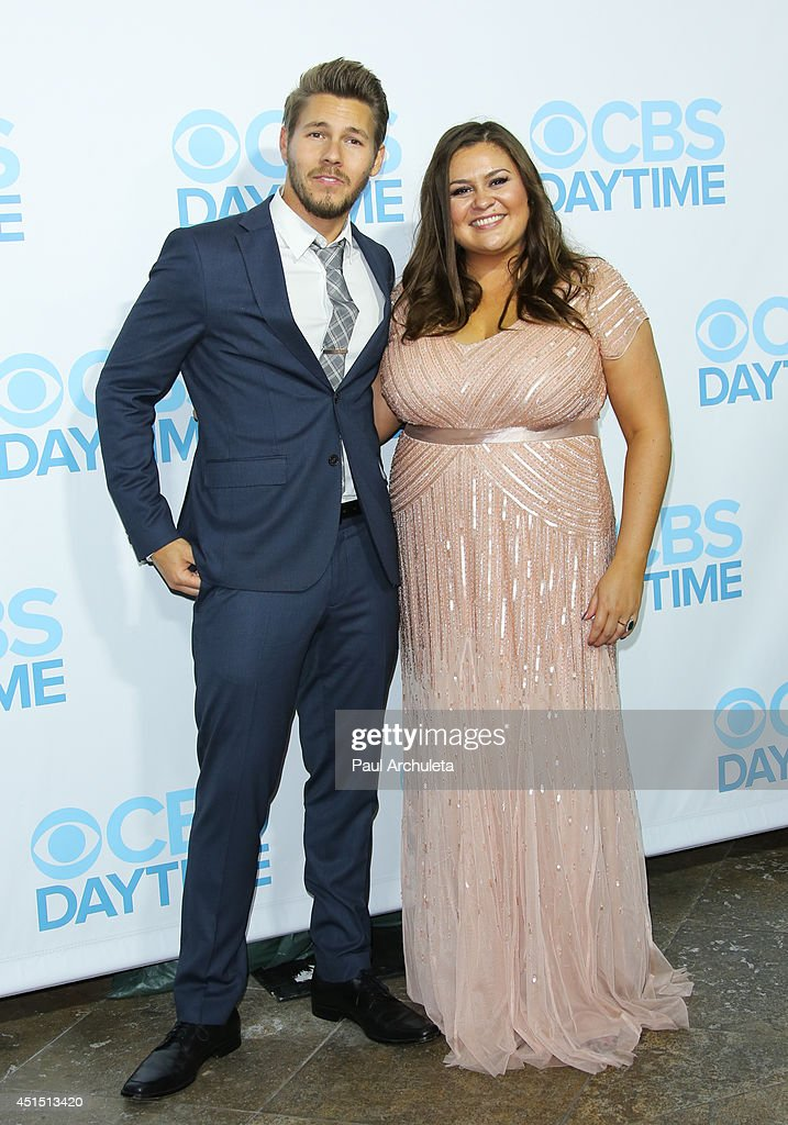 Actor Scott Clifton (L) and Head Of Daytime TV Angelica McDaniel (R) attend the 41st Annual Daytime Emmy Awards CBS after party at The Beverly Hilton Hotel on June 22, 2014 in Beverly Hills, California.