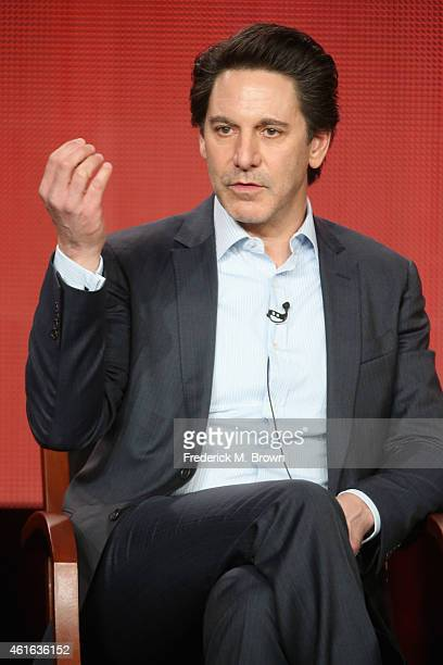 Actor Scott Cohen speaks onstage during the 'Allegiance' panel discussion at the NBC/Universal portion of the 2015 Winter TCA Tour at the Langham...