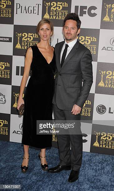Actor Scott Cooper and wife Jocelyne Cooper attend the 2010 Film Independent's Spirit Awards at Nokia Theatre LA Live on March 5 2010 in Los Angeles...