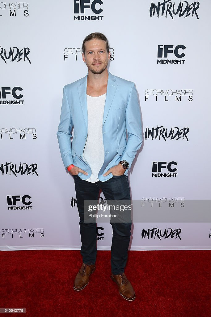 Actor Scotty Dickert attends the premiere of IFC Midnight's 'Intruder' at Regency Bruin Theater on June 15, 2016 in Westwood, California.
