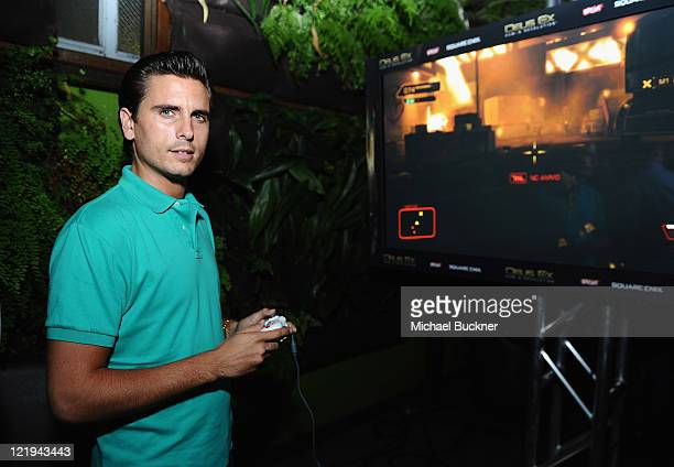 Actor Scott Disick attends the Deus Ex: Human Revolution Video Game Launch Party Hosted by Break.com at Roxbury on August 23, 2011 in Hollywood,...