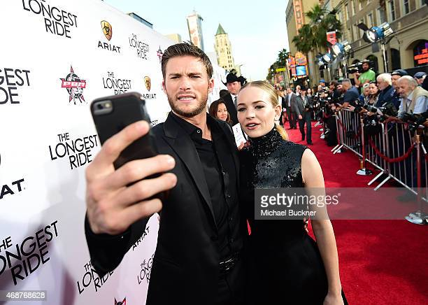 Actor Scott Eastwood and actress Britt Robertson attend the premiere of Twentieth Century Fox's The Longest RIde at the TCL Chinese Theatre IMAX on...