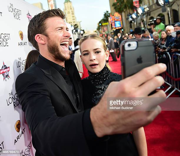 Actor Scott Eastwood and actress Britt Robertson attend the premiere of Twentieth Century Fox's 'The Longest RIde' at the TCL Chinese Theatre IMAX on...