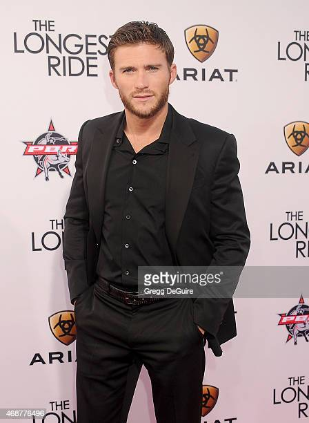 Actor Scott Eastwood arrives at the Los Angeles premiere of 'The Longest Ride' at TCL Chinese Theatre IMAX on April 6 2015 in Hollywood California