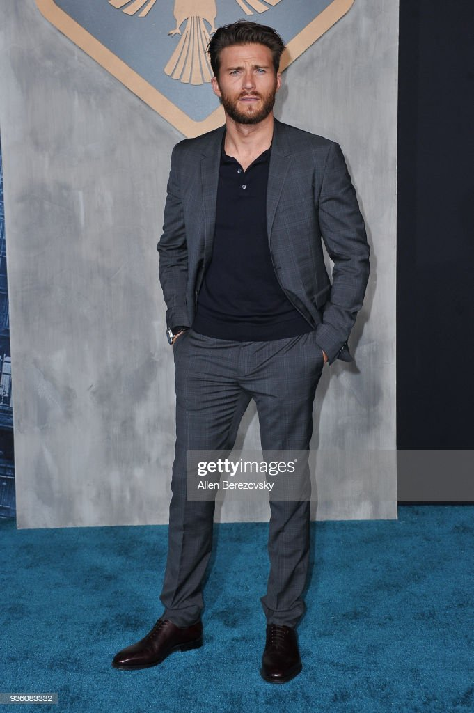 Actor Scott Eastwood attends the premiere of Universal's 'Pacific Rim Uprising' at TCL Chinese Theatre IMAX on March 21, 2018 in Hollywood, California.