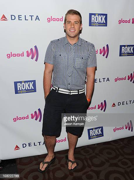 Actor Scott Evans attends GLAAD Manhattan at 230 Fifth Avenue on August 3 2010 in New York City