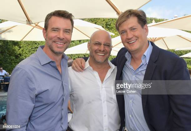 Actor Scott Foley ICM Partners' Chris Silbermann and writer Bill Lawrence attend the ICM Partners PreEmmy Brunch on September 16 2017 in Santa Monica...