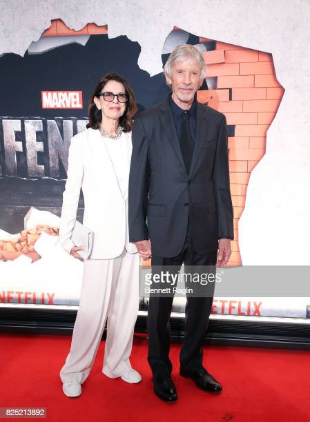 Actor Scott Glenn and wife Carol Glenn attend the Marvel's The Defenders New York premiere at Tribeca Performing Arts Center on July 31 2017 in New...