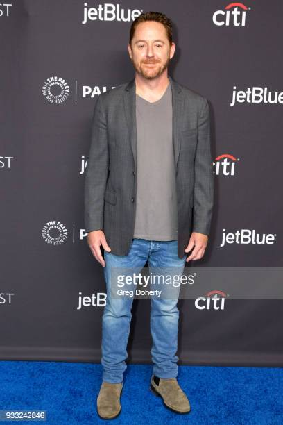 """Actor Scott Grimes attends the 2018 PaleyFest Los Angeles for Fox's """"The Orville"""" at Dolby Theatre on March 17, 2018 in Hollywood, California."""