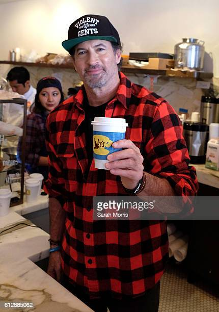 Actor Scott Patterson participates in a Gilmore Girls themed popup of Luke's Diner on October 5 2016 in Beverly Hills California Similar popups were...