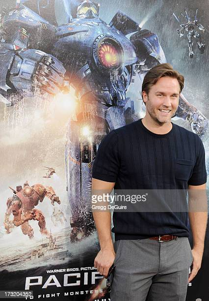 Actor Scott Porter arrives at the Los Angeles premiere of 'Pacific Rim' at Dolby Theatre on July 9 2013 in Hollywood California