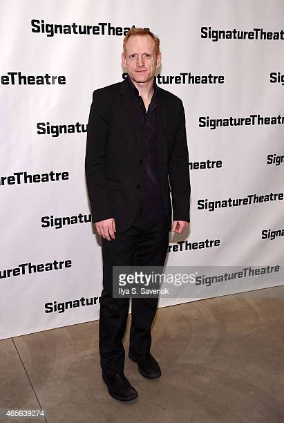Actor Scott Shepherd attends 'The Liquid Plane' Opening Night Party at Signature Theatre Company's The Pershing Square Signature Center on March 8...