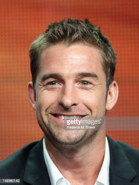 Actor Scott Speedman speaks onstage at the 'Last Resort' panel during the Disney/ABC Television Group portion of the 2012 Summer TCA Tour on July 27...