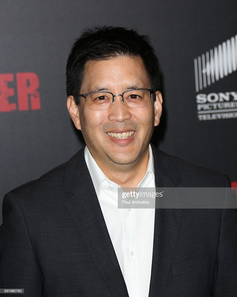 Actor Scott Takeda attends the premiere of AMC's 'Preacher' at Regal LA Live Stadium 14 on May 14, 2016 in Los Angeles, California.