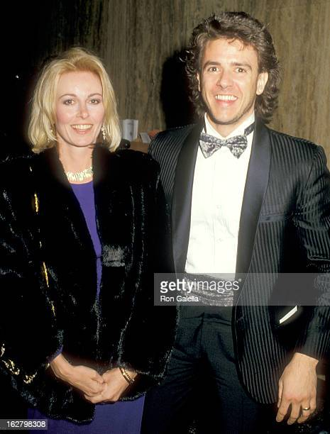 Actor Scott Valentine and wife Kym Fisher attend the Fifth Annual American Video Awards on February 26 1987 at the Scottish Rites Auditorium in Los...