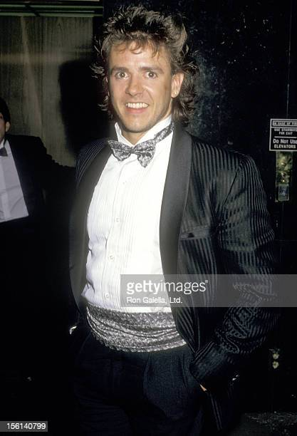 Actor Scott Valentine attends the Fifth Annual American Video Awards on February 26 1987 at the Scottish Rites Auditorium in Los Angeles California