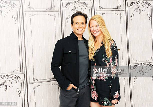 Actor Scott Wolf and wife Kelley Limp attend the discussion of season three of NBCs hit summer medical drama 'The Night Shift' during AOL Build...