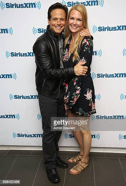 Actor Scott Wolf and wife Kelley Limp visit the SiriusXM Studios on June 6 2016 in New York City