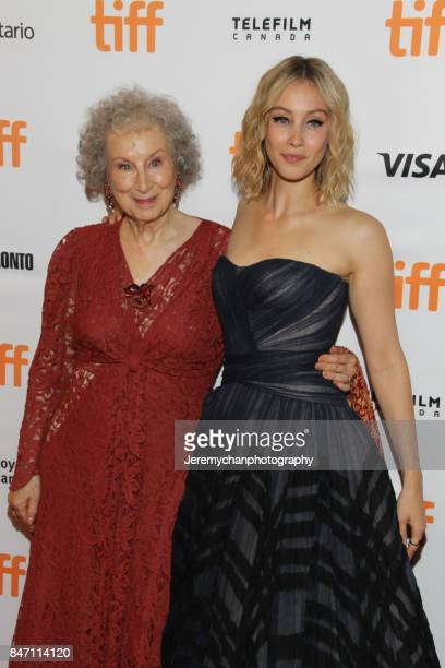 Actor / screenwriter Margaret Atwood and actor Sarah Gadon attend the Alias Grace Premiere held at Winter Garden Theatre during the 2017 Toronto...