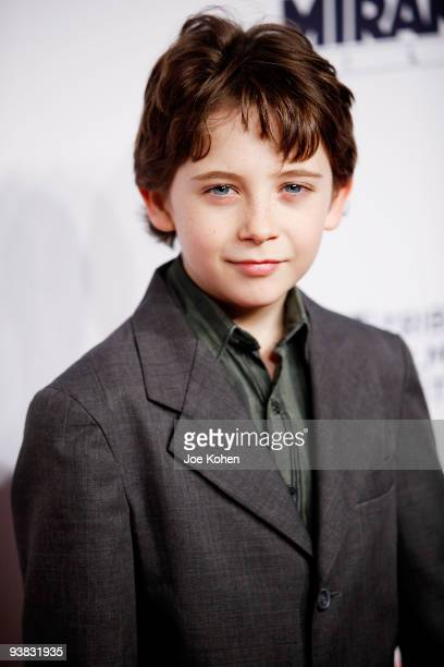 Actor Seamus DaveyFitzpatrick attends Tribeca Film Institute's benefit screening of Everybody's Fine at AMC Lincoln Square on December 3 2009 in New...