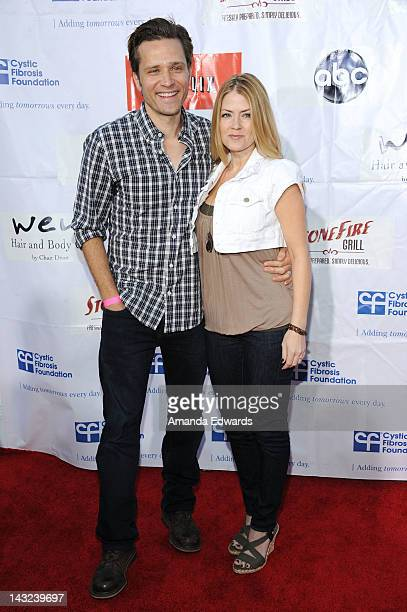 Actor Seamus Dever and his wife Juliana Dever arrive at the Band From TV's 2nd Annual Block Party On Wisteria Lane at Universal Studios Backlot on...