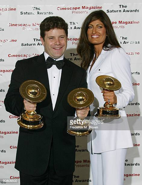 Actor Sean Astin and Alison HeruthWaterbury attend the 30th Annual Saturn Awards at the Sheraton Universal Hotel on May 5 2004 in Universal City...