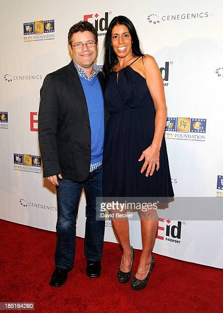 Actor Sean Astin and Cheryl Ruettiger arrive at the 20th anniversary celebration of the release of the movie Rudy at the Brenden Theatres inside the...