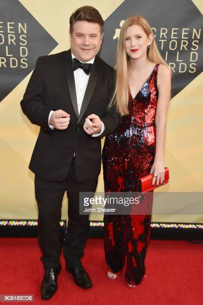 Actor Sean Astin and Elizabeth Astin attend the 24th Annual Screen Actors Guild Awards at The Shrine Auditorium on January 21 2018 in Los Angeles...