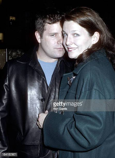 Actor Sean Astin and wife Christine attend John Leguizamo's OneMan Broadway Show Sexaholix Opening Night on December 2 2001 at the Royale Theatre in...