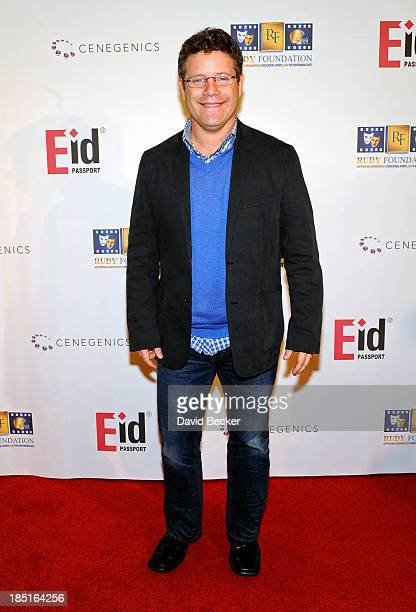 Actor Sean Astin arrives at the 20th anniversary celebration of the release of the movie 'Rudy' at the Brenden Theatres inside the Palms Casino...