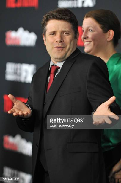 Actor Sean Astin attends the Los Angeles Premiere of FX's new series 'The Strain' at DGA Theater on July 10 2014 in Los Angeles California