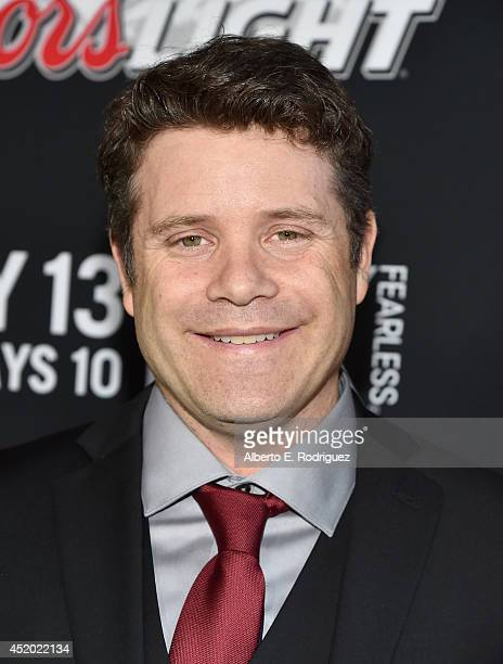 Actor Sean Astin attends the premiere of FX's 'The Strain' at DGA Theater on July 10 2014 in Los Angeles California