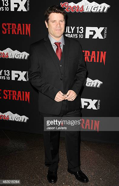 Actor Sean Astin attends the premiere of 'The Strain' at DGA Theater on July 10 2014 in Los Angeles California