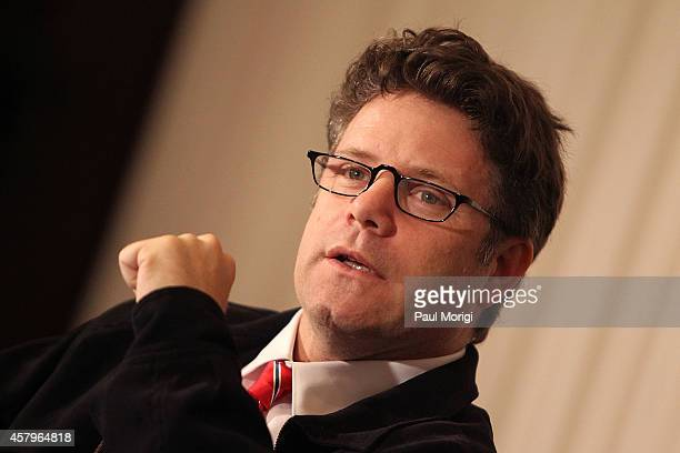 Actor Sean Astin speaks at the National Press Club Presents A Conversation With Sean Astin at National Press Club on October 27 2014 in Washington DC