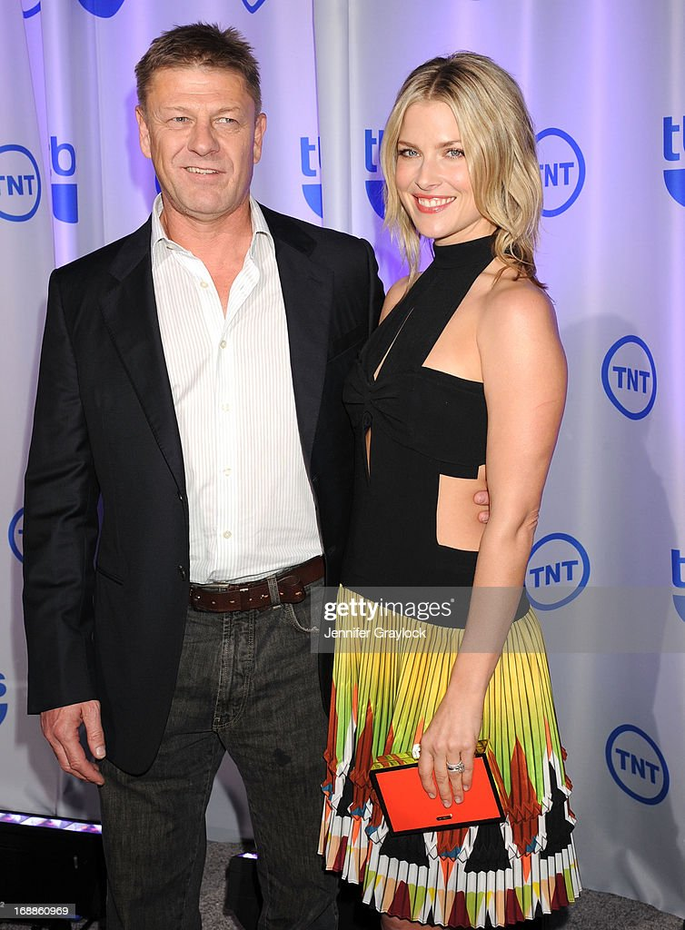 Actor Sean Bean and Ali Larter attend the 2013 TNT/TBS Upfront presentation at Hammerstein Ballroom on May 15, 2013 in New York City.