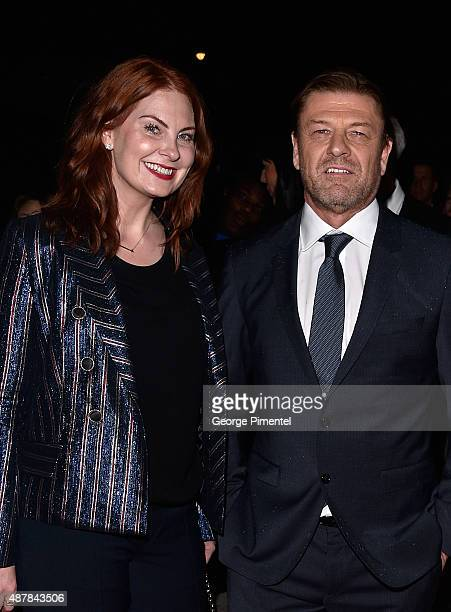 Actor Sean Bean and Ashley Moore attend the Sicario premiere during the 2015 Toronto International Film Festival at Princess of Wales Theatre on...