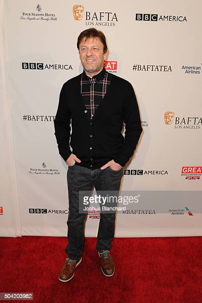 Actor Sean Bean attends the BAFTA Los Angeles Awards Season Tea at Four Seasons Hotel Los Angeles at Beverly Hills on January 9 2016 in Los Angeles...
