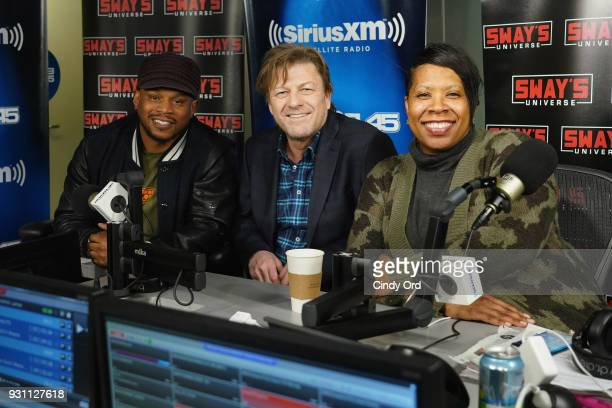 Actor Sean Bean visits 'Sway in the Morning' with Sway Calloway on Eminem's Shade 45 at the SiriusXM Studios on March 12 2018 in New York City