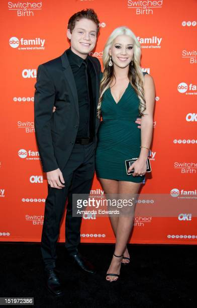 Actor Sean Berdy and his girlfriend Mary Harman arrive at ABC Family's 'Switched At Birth' Fall Premiere Book Launch Party at The Redbury Hotel on...