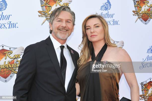 Actor Sean Cameron Michael and Actress LeeAnne Summers attend the 33rd Annual L Ron Hubbard Achievement Awards at The Wilshire Ebell Theatre on April...